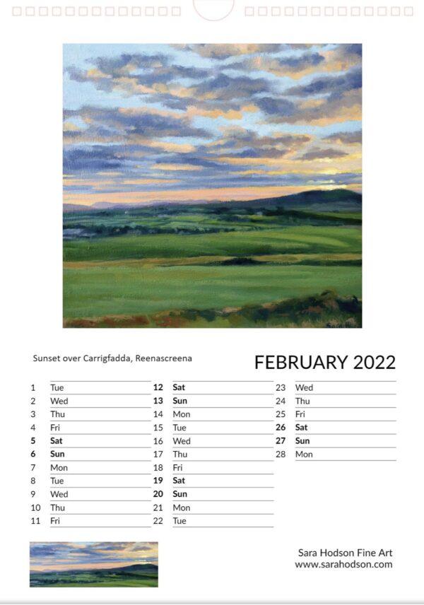 Calendar page february